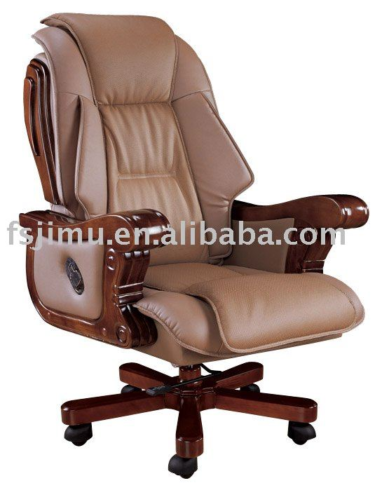 Boss Office Chairs modern wooden leg 5-star reclining leather office boss chair - buy