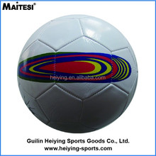 PVC Plastic Type inflatable size 5 football