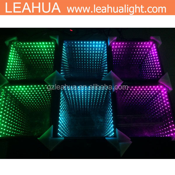 RGB LED Dance Floor , portable led dance floors for sale
