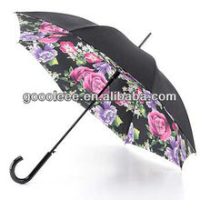 promotional flower print inside umbrella for rain