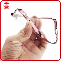 Wholesale Luxury Transparent Clear Chrome Soft Electroplated TPU Case Cover Bumper for iPhone 5
