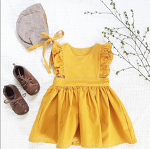 Wholesale Plain Girls Yellow Baby Fancy Dress Kids Fashion Dresses Pictures
