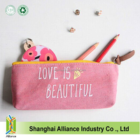 Promotional Cotton Jeans Students Pencil Bag With Customer Logo