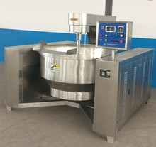 Full automatic soup steam cooking jacketed kettle with agitator