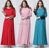 XL wholesale ladies arabic muslim casual rayon spandex COTTON LONG SLEEVE MAXI DRESS ABAYA pakistan fashion muslimah women