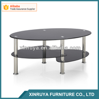 Modern Glass Touch Screen Metal Legs Coffee Table made in China