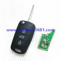 MS 3 button car key remote key control 433mhz with ID46 transponder chip for hyundai IX35 I20 with uncut keys
