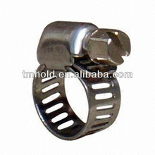Tubing pipe Heavy duty American worm drive corrugated pipe clamp with bandwidth 8mm