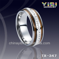 Natural wood ring jewelry,Exquisite womens koa wood tungsten rings,Guangzhou Panyu Jewelry