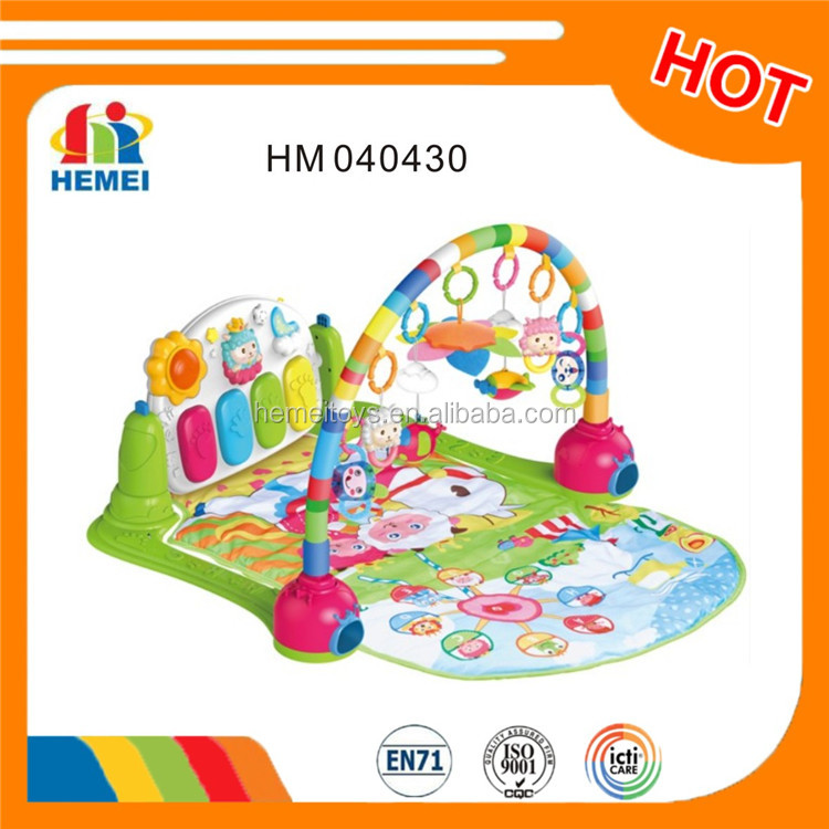 Hemei 2016 multifunction piano baby non-toxic play mat and baby gym mat