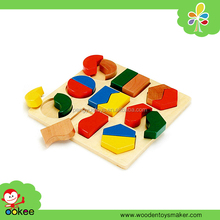 2016 Educational nontoxic painted colored wooden materiales montessori equipment toys