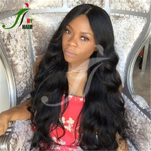 24inch long braided body wavy full lace front wig tangle free full cuticle made real remy hair wigs in america
