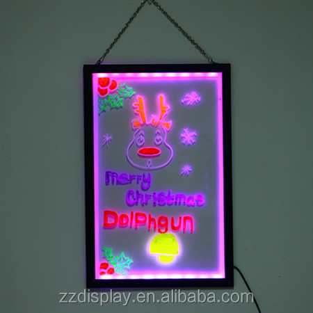 magnetic transparent led writing board,kids drawing toy, for big promotion gift