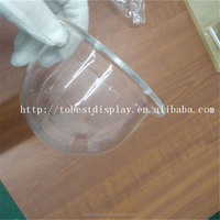 High quality acrylic material plastic domes for crafts, glass domes china, straight cover