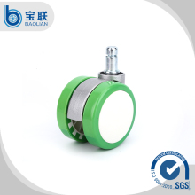 High or low temperature durable Nylon PA6 Stainless Iron PU cabinet sliding door roller caster wheels