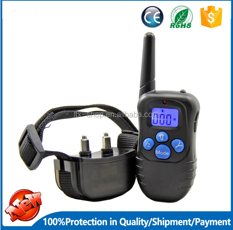 Hot Selling Blue Screen Training Dog Device 300M Remote Control Waterproof Stop Barking Shock Electric Dog Collar