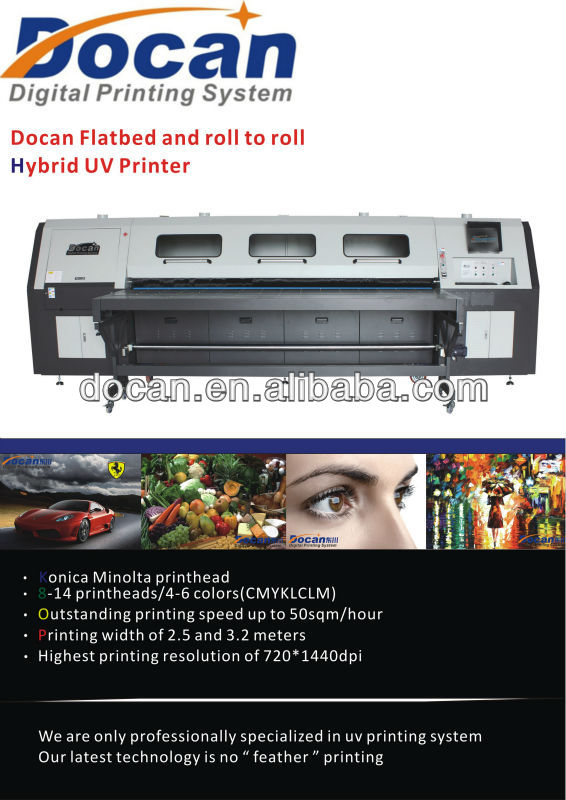 Docan UV 2510 roll to roll printer