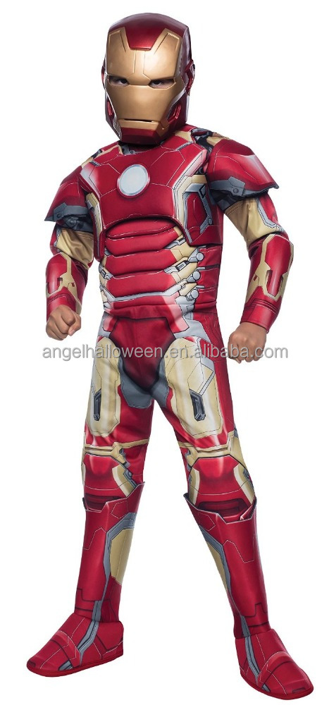 Boys deluxe japanese iron man costume hot sale halloween japanese cosplay costume FC2176