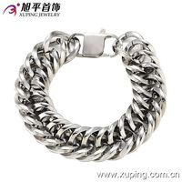 73299-xuping high quality simple design stainless steel men bracelet