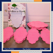 Fashion design OEM flower shape aroma scented plastic card for home and car decor
