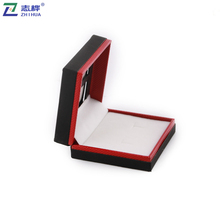 ZHIHUA brand high quality jewelry packaging box leather paper material custom ring earrings box