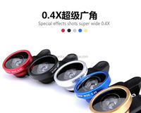 Detachable Clip on Super 0.4X Wide Angle Camera Lens for iPhone 4S 5 5S 6 Samsung Galaxy S3 S4 S5 Note 2 3 II III Free Shipping