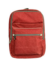 China supplier cotton canvas laptop Canvas backpack Red color canvas bag for girl