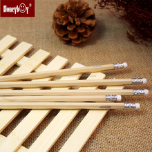 Hot Sale Natural Hex Shaped Pencil With Eraser And Logo