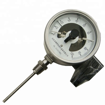 High quality 4inch Industrial Electric contact bimetal thermometer