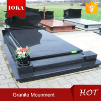 China Black Granite Monument Tombstone Gravestone