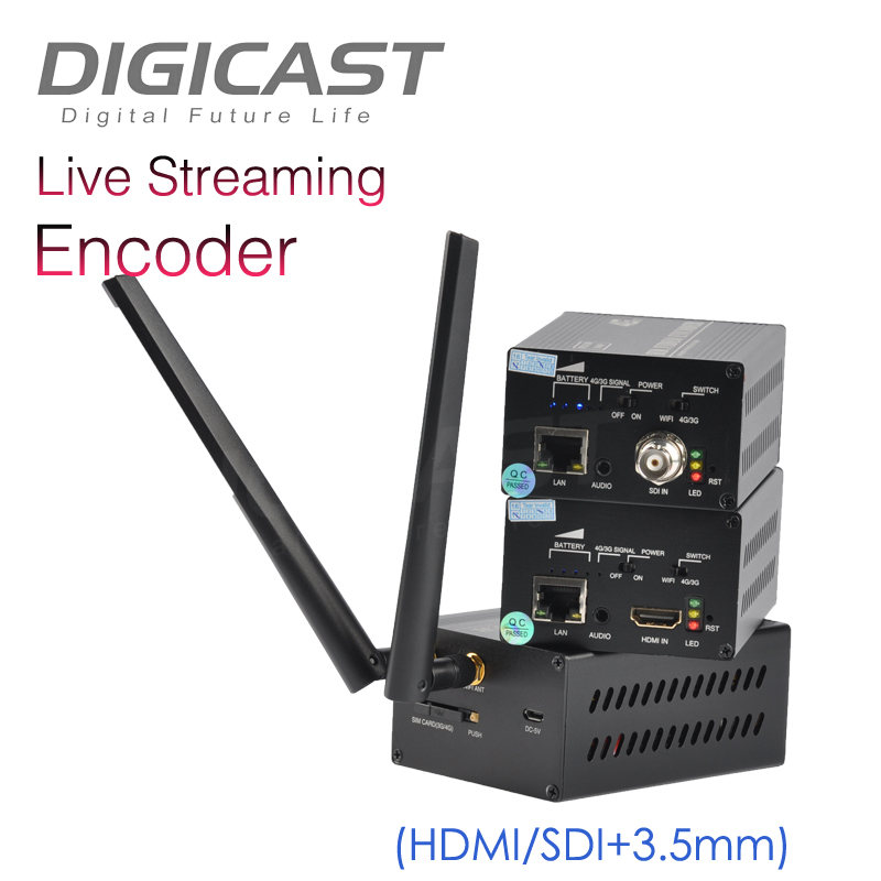 Low latency 3G/4G Cable TV Digital HDMI Encoder H.264 IPTV Encoder For Professional Live Broadcasting