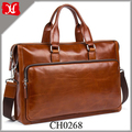 2018 new men fashion high end business leather briefcase laptop mens messenger bag