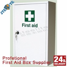 Home use Knocked down structurer metal 1 door first aid cabinet wall mounted first aid box first aid kit cabinets
