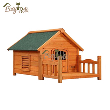 Door Strip Flat Roof Dog Kennel With Leisure Porch