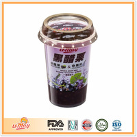 Black Currant Extract & Chia Seed Fruit Juice Drink Jelly Natural health drink