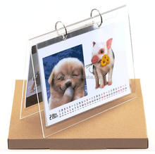 2018 5x7 acrylic calendar display/stand wholesale