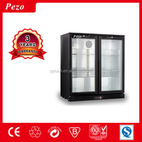 pezo sliding 3 door 330 liters bottle cooler display