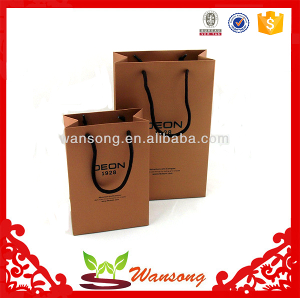recycle paper material shopping white kraft paper bag