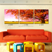 Framed Pictures for Living Room Beautiful Red Tree of Life Cheap Canvas Wall Art Decoracion Hogar