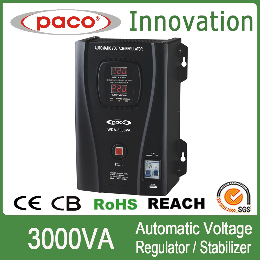 Paco or OEM brand Automatic Wall-Mounted Auto Voltage Regulator WDA-3000VA