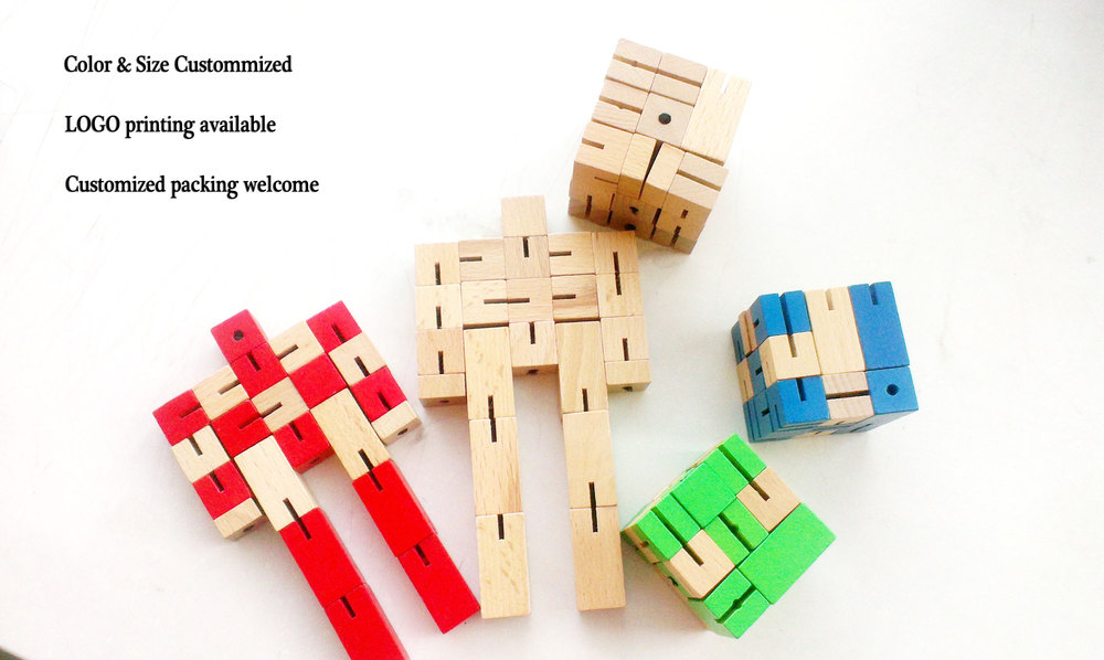 Educational Wooden Robot Toys for Kids Unisex Wooden Puzzle