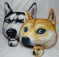3D Husky & Doge Pattern PP Cotton Sofa Cushion Animal Decorative Plush Pillow