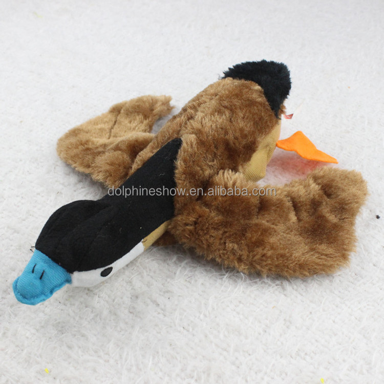 Free sample durable plush duck pet sex toy for dog wholesale custom soft squeaky chew dog sex toy