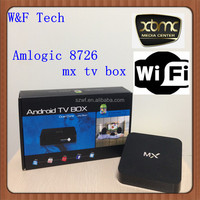 Smart Android tv box mx HD 1080P Amlogic 8726 Dual Core Android 4.2 mx android tv box u6d