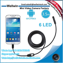 6 LED Android Waterproof USB 7mm Endoscope Inspection Camera
