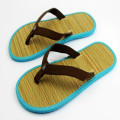 pu upper with eva straw flat hotel flip flop slippers