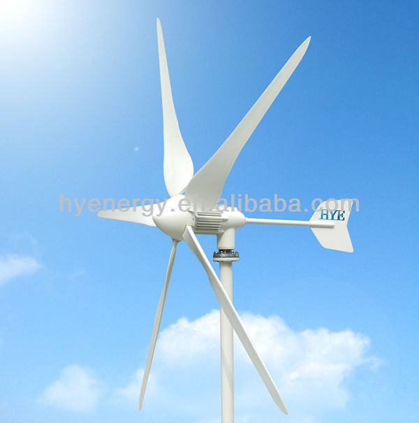 1000W 48V fan for generate energy wind turbine 5 blades type