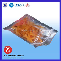 custom printed factory price plastic stand up packaging bag for fish food