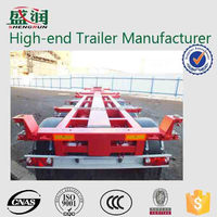 China manufacture 20ft/40ft container truck trailer chassis