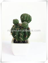 Lifelike mini artificial cactus potted bonsai made in China
